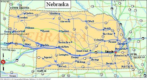 Nebraska Powder Coating CustomCoaterscom - Nebraska map
